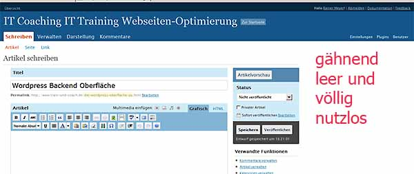 wordpress-backend-leerer-rand