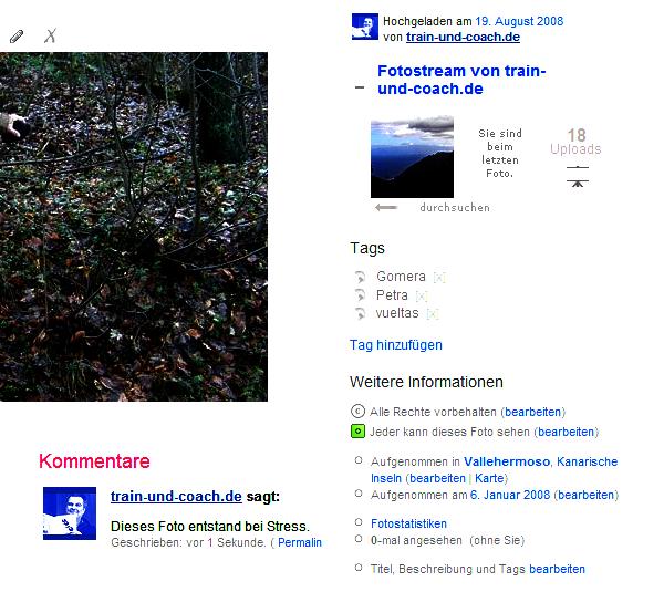 Schlagworte und Geodaten bei Flickr