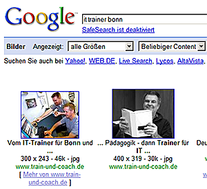 Google-Bildersuche: it trainer bonn