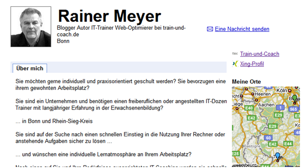 Train-und-Coach.de Google Profil Rainer Meyer
