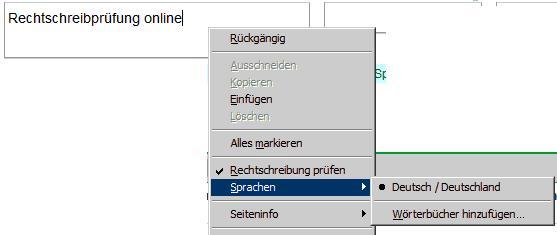 Rechtschreibung online Schritt 1