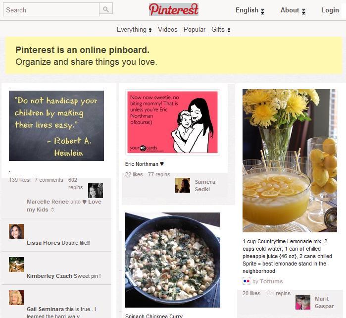 Bilder im Internet mit Pinterest