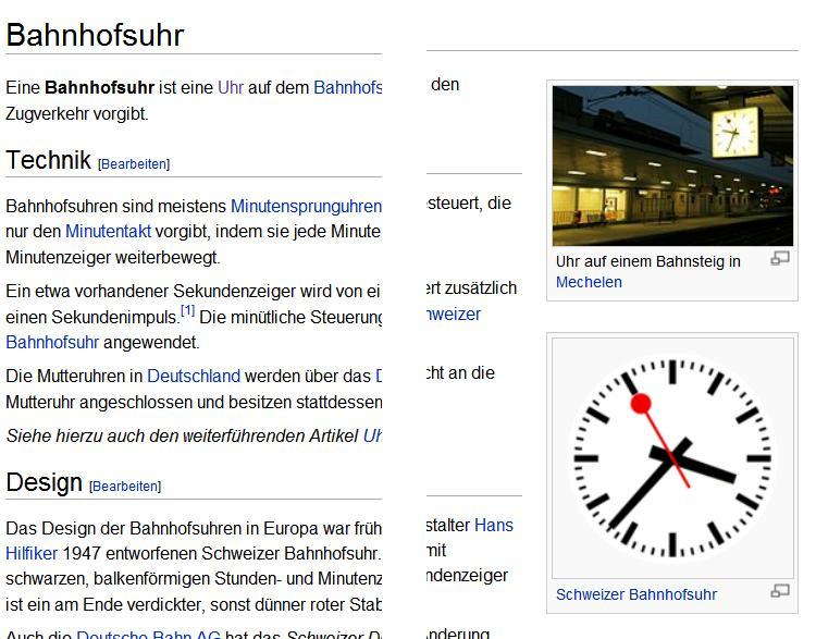 Digitale und Analoge Bahnhofsuhr aus Wikipedia