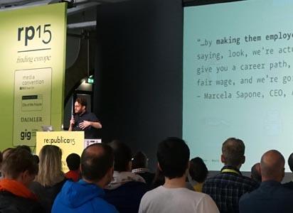 Johannes Kleske auf der re:publica 2015
