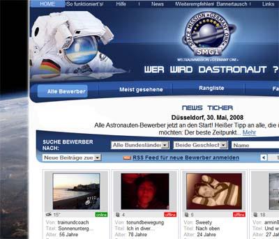 Website zum Weltraum
