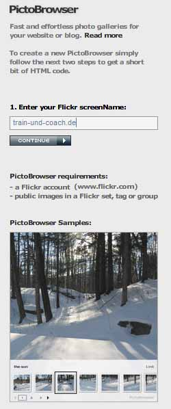 Mit Flickr Bilder in WordPress